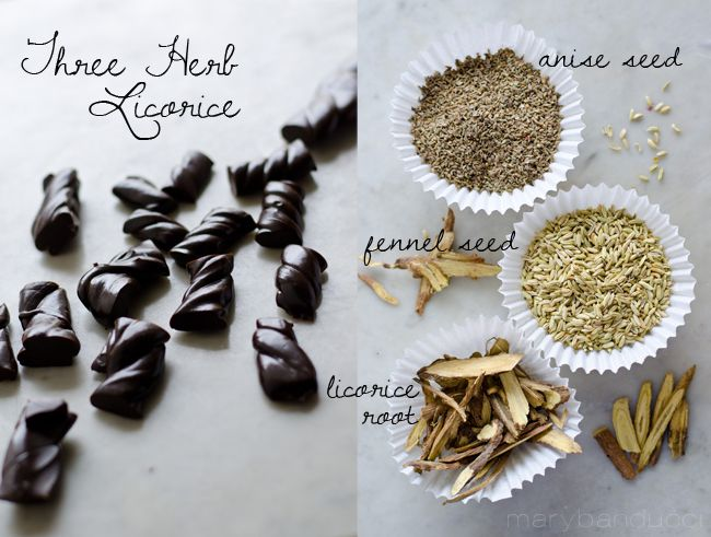 Three Herb Licorice anise fennel by Mary Banducci